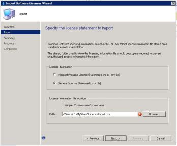 LicenceImport