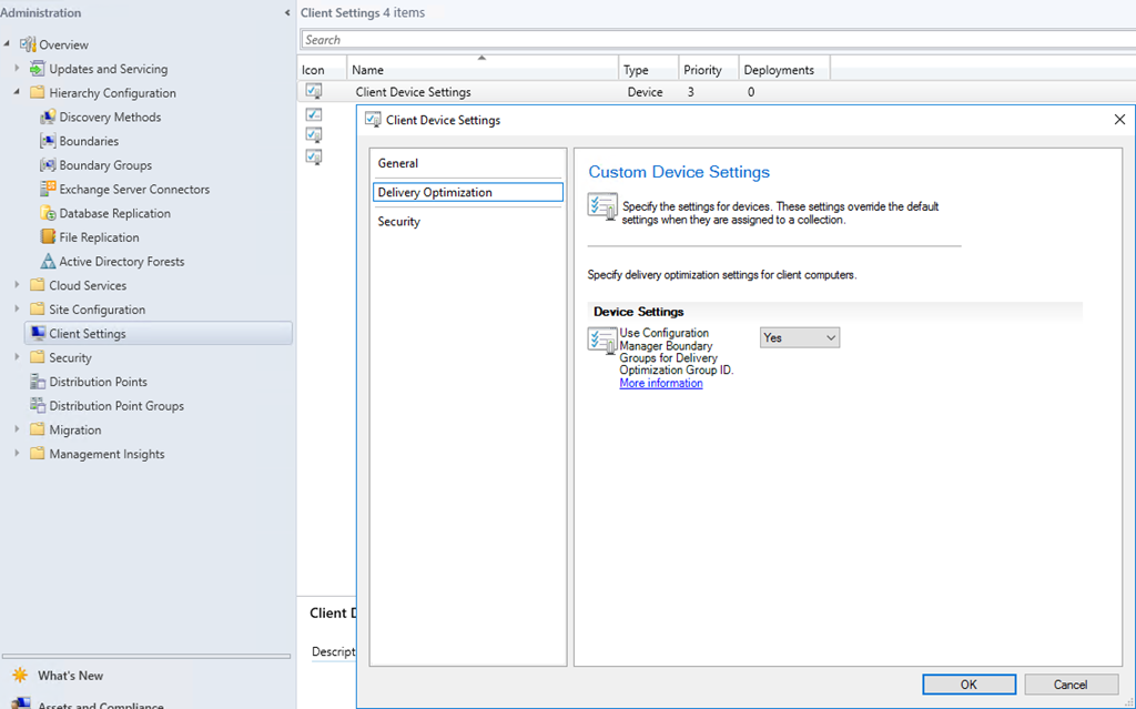 Configure Delivery Optimization to use Boundary Groups in