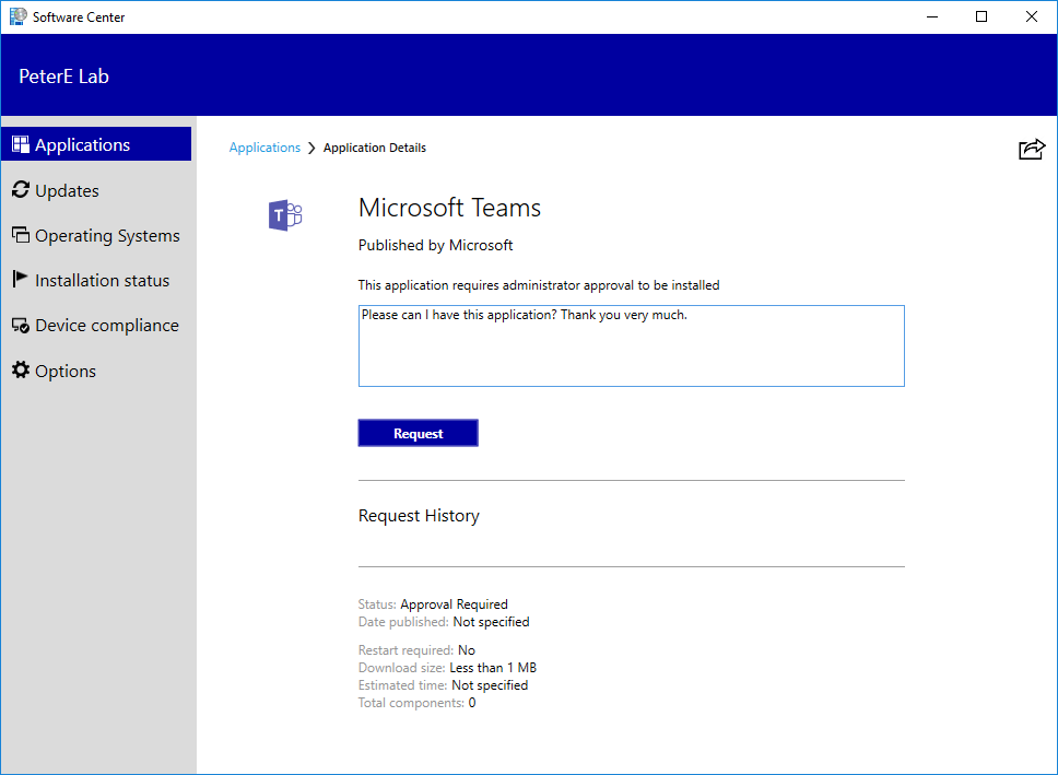 Approve SCCM application requests for users per device–Tech