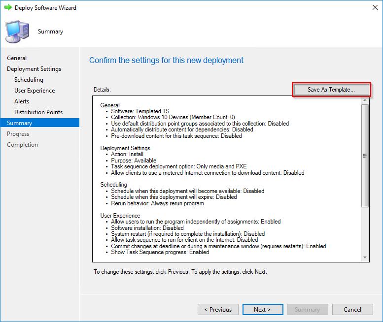 Deployment Templates for SCCM task sequences–Tech Preview