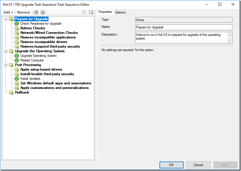 Improvements to SCCM Win10 in-place upgrade task sequence