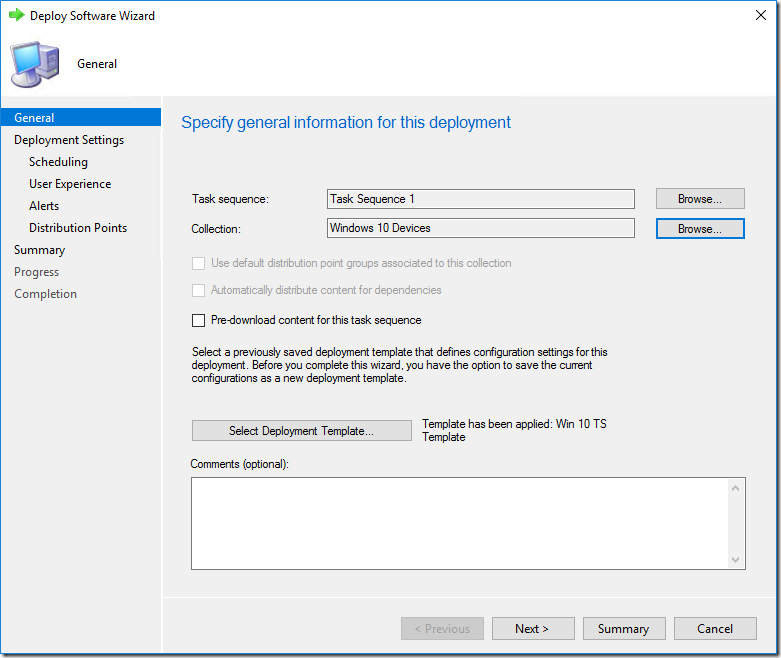 Deployment Templates for SCCM task sequences–Tech Preview